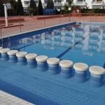 Situé à seulement 5 minutes à pied de la plage S'Abanell, ce complexe propose une piscine extérieure ouverte en saison, une aire de jeux pour enfants ainsi que des appartements lumineux et fonctionnels dotés d'un balcon meublé. La gare routière de Blanes se trouve à 200 mètres.