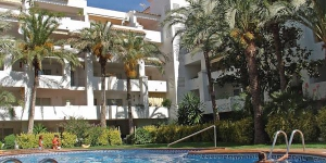 "Apartment block ""Royal Marina"" is located  by a road in the district of Santa Margarida, 3.5 km from the centre of Roses and 1."